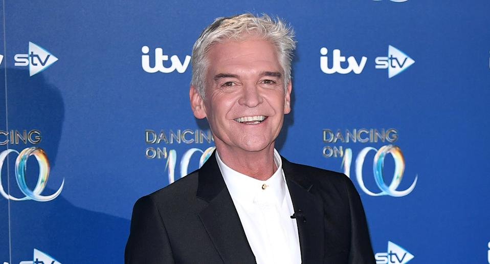 "Daytime TV favourite <a href=""https://uk.news.yahoo.com/tagged/phillip-schofield/"" data-ylk=""slk:Phillip Schofield"" class=""link rapid-noclick-resp"">Phillip Schofield </a>made headlines in February when he bravely <a href=""https://uk.news.yahoo.com/phillip-schofield-thanks-wife-and-daughters-for-support-as-he-comes-out-gay-100316046.html"" data-ylk=""slk:came out as gay;outcm:mb_qualified_link;_E:mb_qualified_link;ct:story;"" class=""link rapid-noclick-resp yahoo-link"">came out as gay</a> in a Instagram post, closely followed by an emotional interview on <em>This Morning</em> with good pal and colleague Holly Willoughby. The star, who remains married to wife Steph, was also candid about how battling with his identity had led to <a href=""https://uk.news.yahoo.com/phillip-schofield-reveals-mental-health-121547919.html"" data-ylk=""slk:mental health struggles;outcm:mb_qualified_link;_E:mb_qualified_link;ct:story;"" class=""link rapid-noclick-resp yahoo-link"">mental health struggles</a>. (Photo by Karwai Tang/WireImage)"