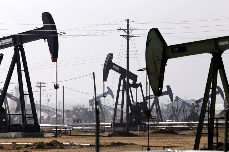 FILE PHOTO: An oil drill is pictured in the Kern River oil field in Bakersfield