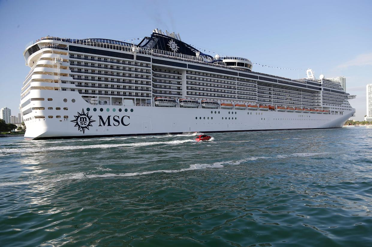 The MSC Divina cruise ship.