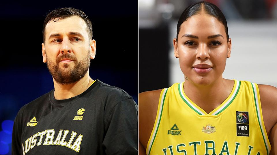 Pictured here, Aussie basketball icons Andrew Bogut and Liz Cambage.
