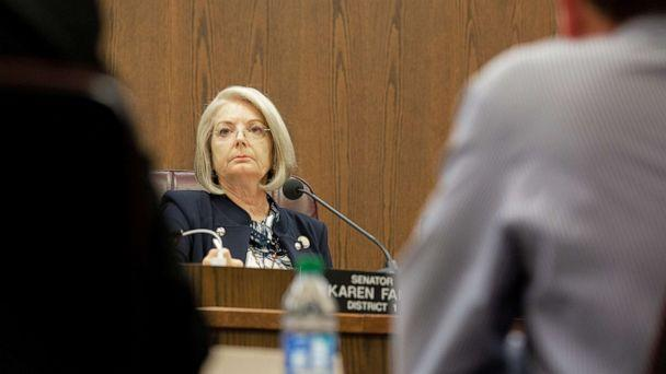 PHOTO: Senate President Karen Fann attends a meeting about the audit at the Arizona state Senate in Phoenix, July 15, 2021. (The Republic via USA Today Network, FILE)