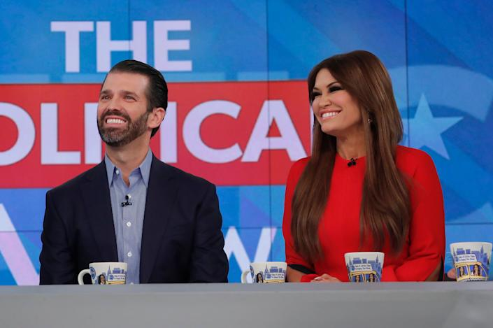"Donald Trump Jr. and Kimberly Guilfoyle on ABC's ""The View"" last year. (Photo: Lou Rocco via Getty Images)"
