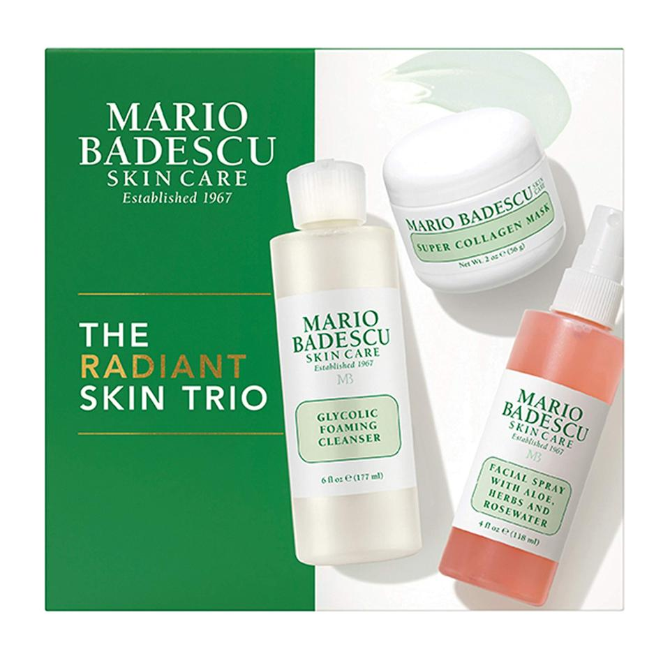 "<br><br><strong>Mario Badescu</strong> Radiant Skin Trio, $, available at <a href=""https://amzn.to/3mO1oWn"" rel=""nofollow noopener"" target=""_blank"" data-ylk=""slk:Amazon"" class=""link rapid-noclick-resp"">Amazon</a>"