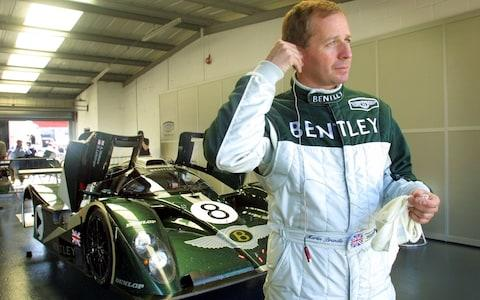 martin Brundle and bentley EXP-8 Le Mans racer - Credit: EPA