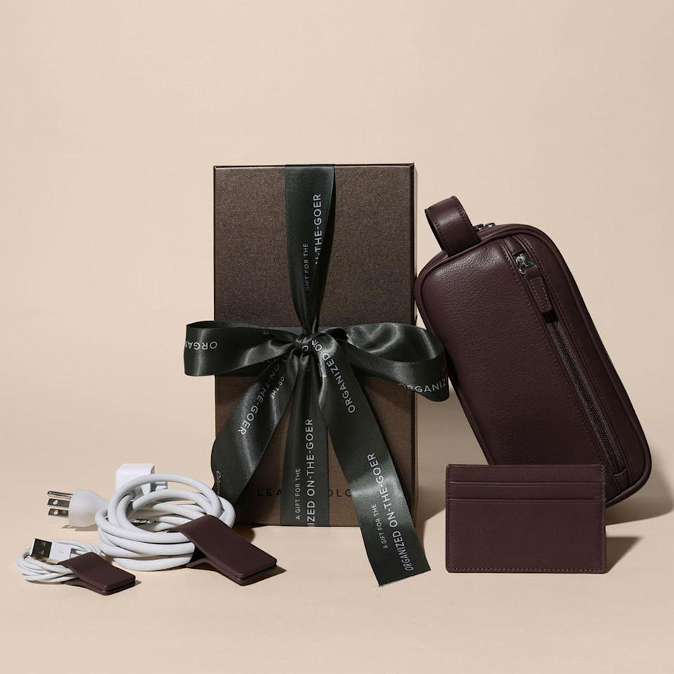 """<p><strong>Leatherology</strong></p><p>leatherology.com</p><p><strong>$170.00</strong></p><p><a href=""""https://www.leatherology.com/a-gift-for-the-organized-on-the-goer-brown-leather-brown/"""" rel=""""nofollow noopener"""" target=""""_blank"""" data-ylk=""""slk:Buy"""" class=""""link rapid-noclick-resp"""">Buy</a></p>"""