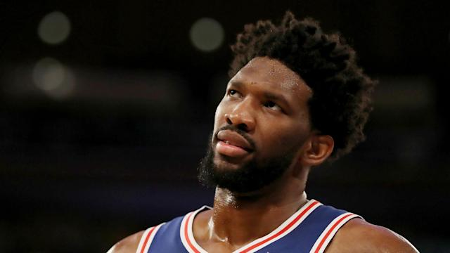 Philadelphia 76ers All-Star Joel Embiid is in doubt for Monday's postseason matchup against the sixth-seeded Brooklyn Nets.