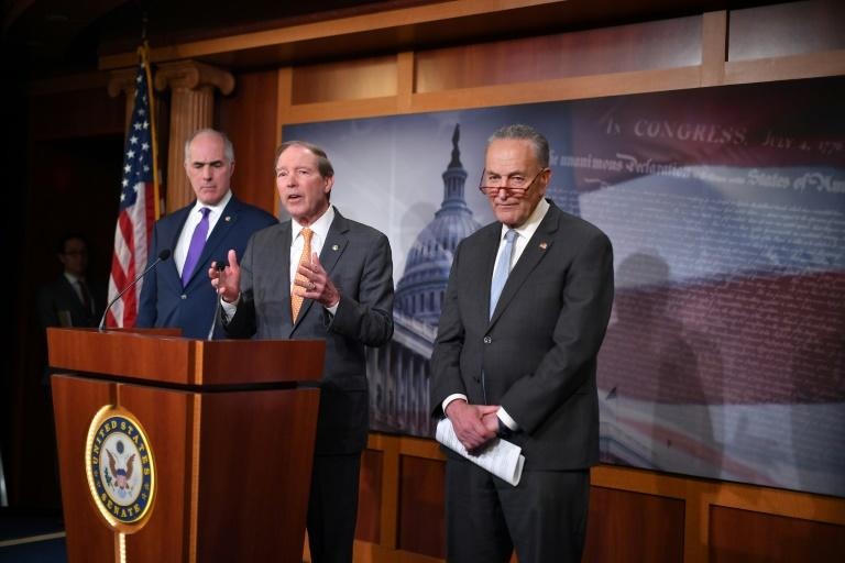 """Senator Tom Udall says that while his plastics bill was unlikely to become law soon, it is intended as a model """"so that when we have an administration and a Senate that's more receptive, that we can get something done"""" (AFP Photo/MANDEL NGAN)"""