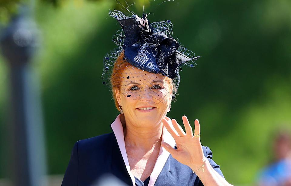 The Duchess of York attends Harry and Meghan's wedding (Getty)