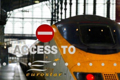 Photo illustration of a Eurostar train in Paris. Irate rail passengers slammed Eurostar's customer services after a cable fault in northern France caused delays of up to seven hours and forced the cancellation of four services on Tuesday