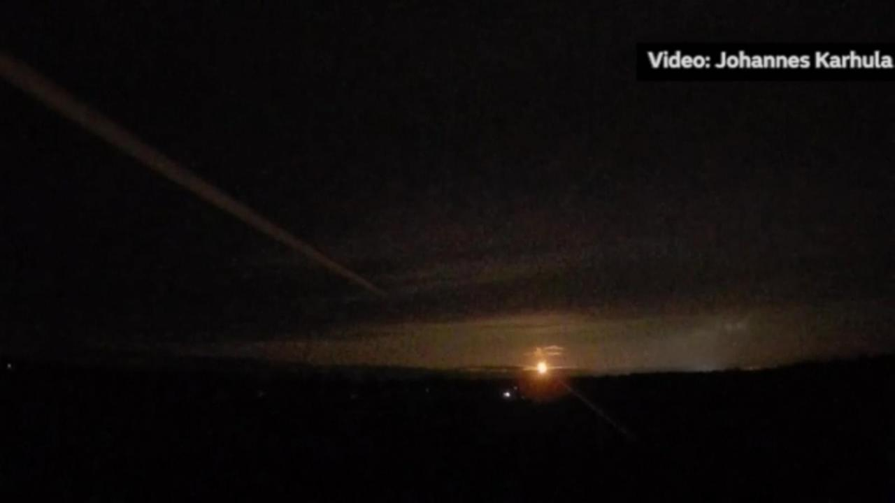 "A fireball lit up the dark skies of Finland for five seconds, giving off what scientists said was ""the glow of 100 full moons"" and setting off hurried attempts to find the reported meteorite."