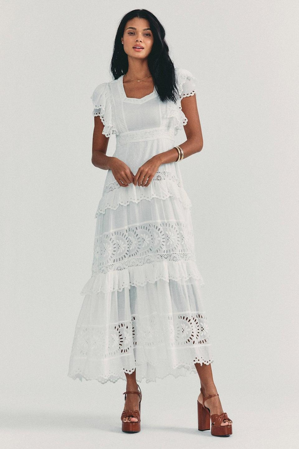 <p>Bring on the warm weather in this <span>LoveShackFancy Rinny Maxi Dress</span> ($745).</p>