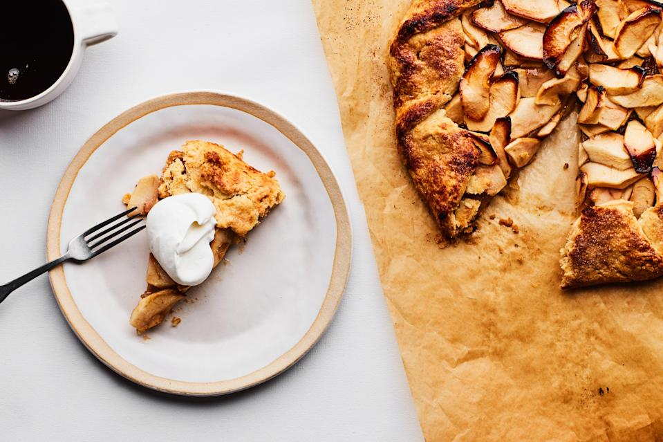 "Gather every apple at the farmers market. This easy Rosh Hashanah dessert with Calvados sauce is the perfect excuse. <a href=""https://www.epicurious.com/recipes/food/views/apple-and-calvados-tart-107610?mbid=synd_yahoo_rss"" rel=""nofollow noopener"" target=""_blank"" data-ylk=""slk:See recipe."" class=""link rapid-noclick-resp"">See recipe.</a>"