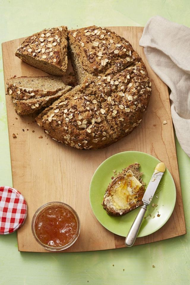 "<p>Sunflower seeds, flax seeds, and old-fashioned oats give this soda bread a rich texture.</p><p><em><a href=""https://www.womansday.com/food-recipes/food-drinks/a16810428/irish-soda-bread-recipe/"" target=""_blank"">Get the Irish Soda Bread recipe</a>. </em></p>"