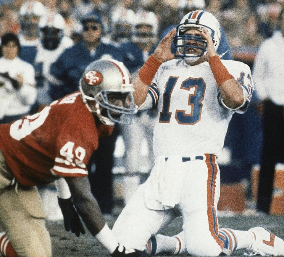 Dan Marino came up short against the San Francisco 49ers in his only Super Bowl appearance. (AP)