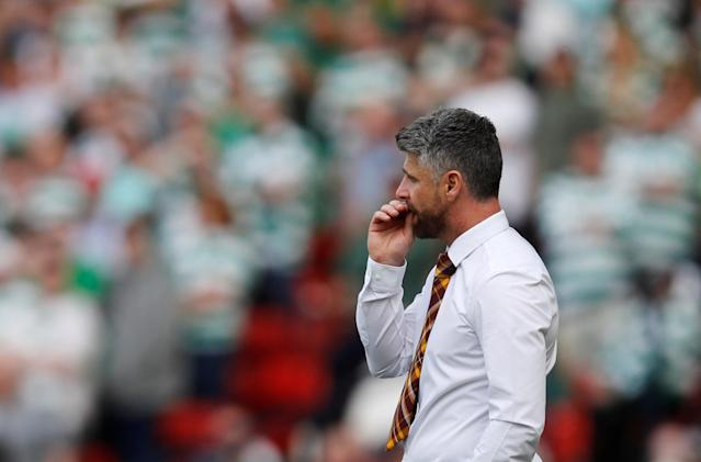 Soccer Football - Scottish Cup Final - Celtic vs Motherwell - Hampden Park, Glasgow, Britain - May 19, 2018 Motherwell manager Stephen Robinson REUTERS/Russell Cheyne