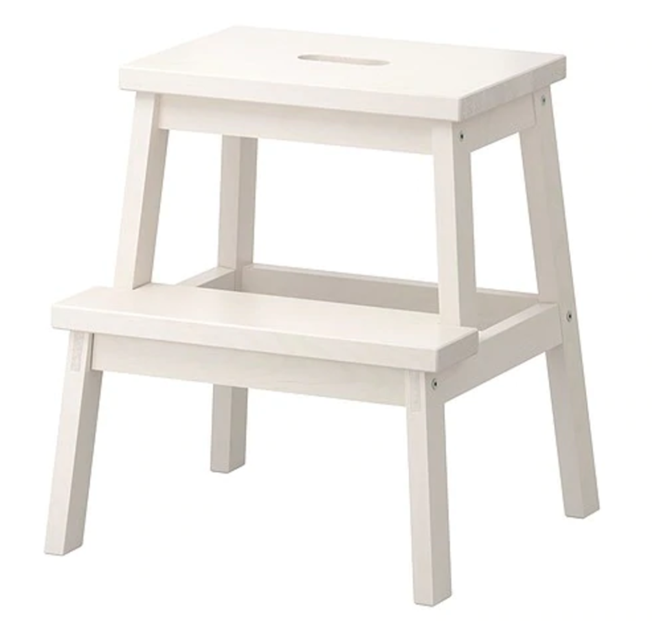 """<p>The BEKVÄM step stool is a simple classic you'd likely find in most homes with children or petite adults who need a boost.</p><p><strong><a class=""""link rapid-noclick-resp"""" href=""""https://go.redirectingat.com?id=74968X1596630&url=https%3A%2F%2Fwww.ikea.com%2Fus%2Fen%2Fcatalog%2Fproducts%2F40178888%2F&sref=https%3A%2F%2Fwww.bestproducts.com%2Fhome%2Fg29514474%2Fbest-ikea-hacks%2F"""" rel=""""nofollow noopener"""" target=""""_blank"""" data-ylk=""""slk:BUY NOW"""">BUY NOW</a> <em>BEKVÄM Step Stool, </em></strong><em><strong>$20, ikea.com</strong></em></p>"""
