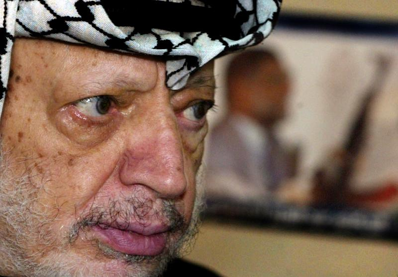 Palestinian leader Yasser Arafat died near Paris in November 2004
