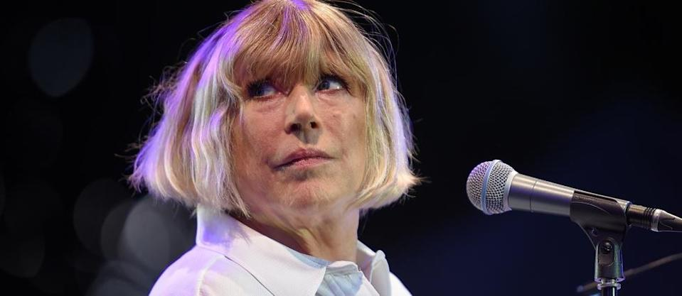 (FILES) In this file photo taken on July 08, 2016 English singer Marianne Faithfull performs on stage during the 23rd edition of the Cognac Blues Passion festival in Cognac. - British singer Marianne Faithfull has been left with fatigue and breathing problems months after being treated for Covid-19 in hospital, the Guardian newspaper reported on January 15, 2021. (Photo by GUILLAUME SOUVANT / AFP)
