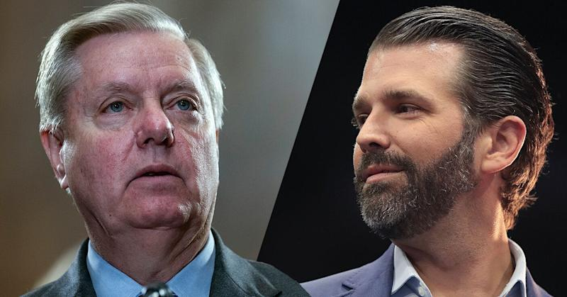 Sen. Lindsey Graham, R-S.C., and Donald Trump Jr. (Photos: Alex Edelman/Getty Image - Scott Olson/Getty Images)