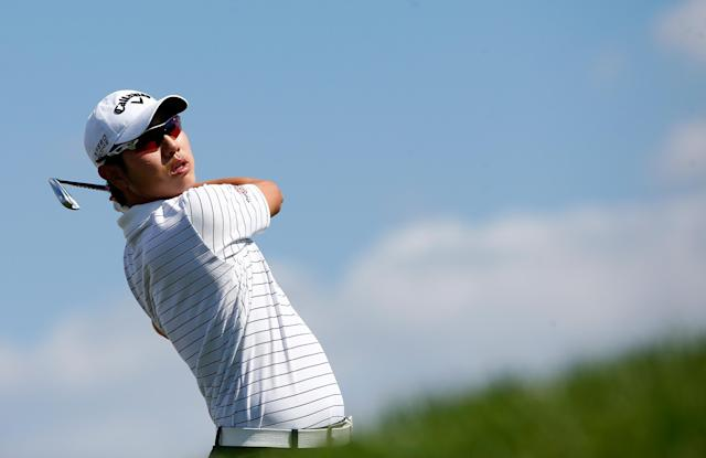 ORLANDO, FL - MARCH 19: Sang-Moon Bae of Korea hits a shot during the pro-am round for the Arnold Palmer Invitational presented by MasterCard at the Bay Hill Club and Lodge on March 19, 2014 in Orlando, Florida. (Photo by Sam Greenwood/Getty Images)