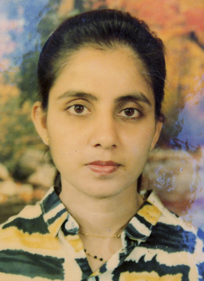 In this undated handout photo of the late nurse Jacintha Saldanha of King Edward VII hospital, provided by Saldanha's family in Shirva north of Mangalore, India after Saldanha was found dead in central London on Friday, Dec. 7, 2012. Australian radio hosts managed to impersonate Queen Elizabeth II and Prince Charles and received confidential information about the Duchess of Cambridge's medical condition, in a hoax phone call to the King Edward VII hospital where the pregnant Duchess was staying and which was broadcast on-air. The controversial prank took a dark twist three days later with the death of nurse Saldanha, a 46-year-old mother of two, who was duped by the DJs despite their Australian accents. (AP Photo/Saldanha Family)