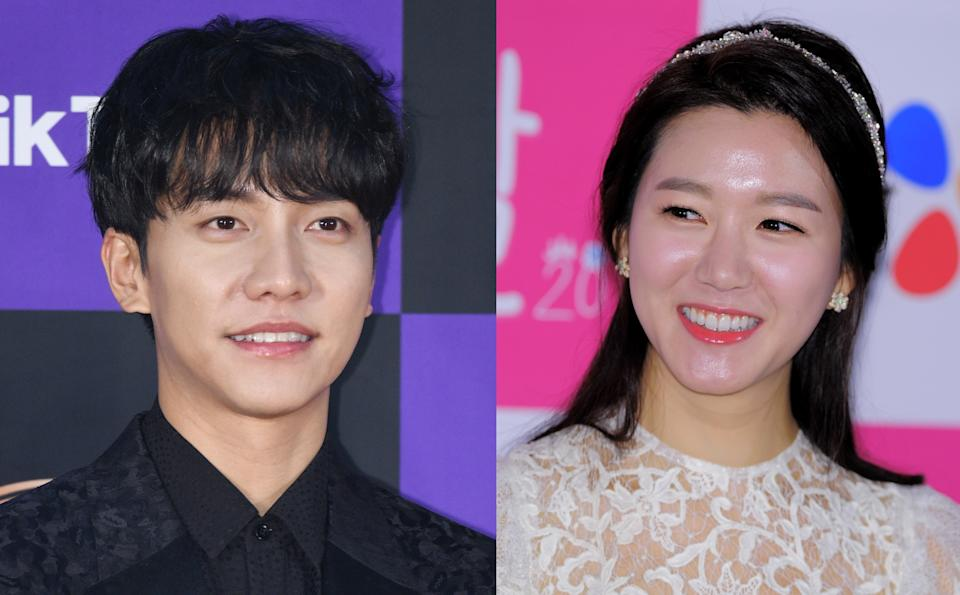 South Korean actors Lee Seung Gi and Lee Da In are officially dating, according to their agencies. (Photos: Getty Images)