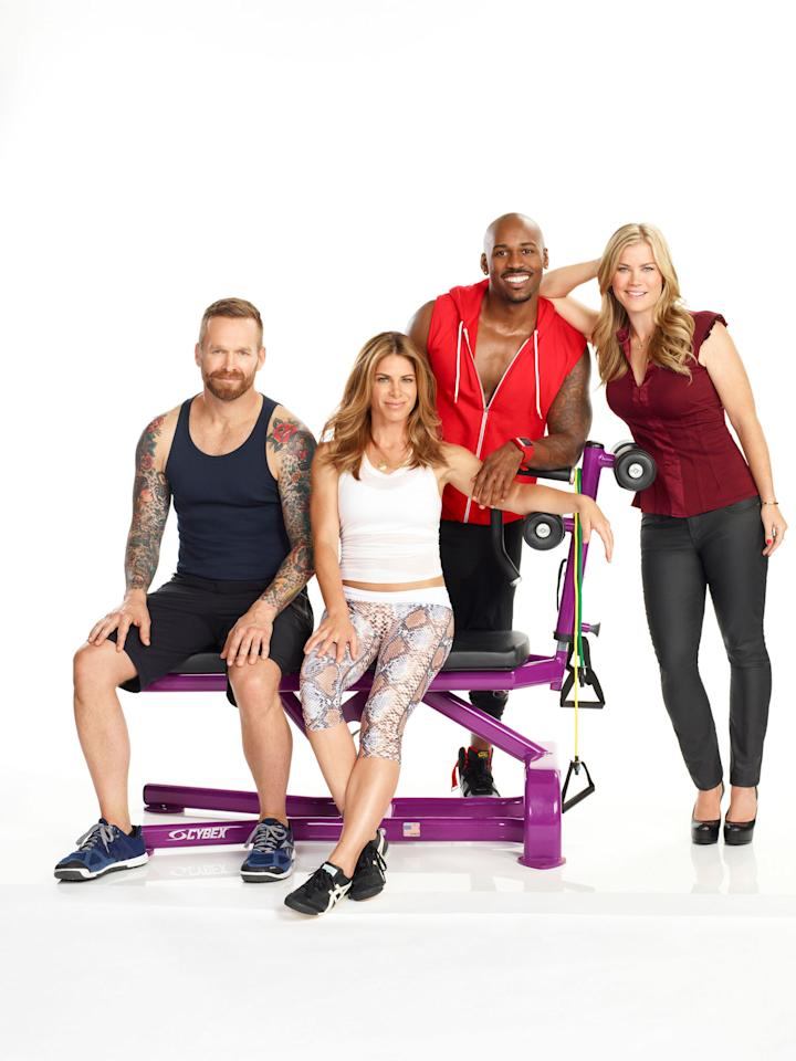 "Bob Harper, Jillian Michaels, Dolvett Quince, and Alison Sweeney on NBC's ""The Biggest Loser"" Season 15."
