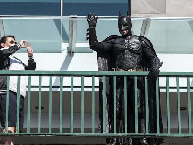 Batman decided to turn up at the ceremony (Getty)