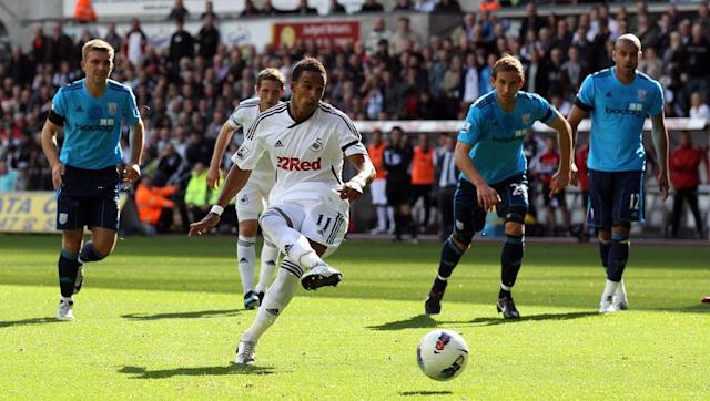 <p><strong>17th September 2011 vs West Bromwich Albion</strong></p> <br><p>For several weeks at the start of the 2011/12 campaign it looked as though the Premier League might be a step too far newly promoted Swansea after they failed to score in any of their first four games.</p> <br><p>That finally changed in mid-September when Scott Sinclair netted a penalty to inspire a 3-0 win over West Brom. The Swans began to steadily pick up points and finished that first season in the safety of 11th place, 11 points clear of the relegation zone.</p>