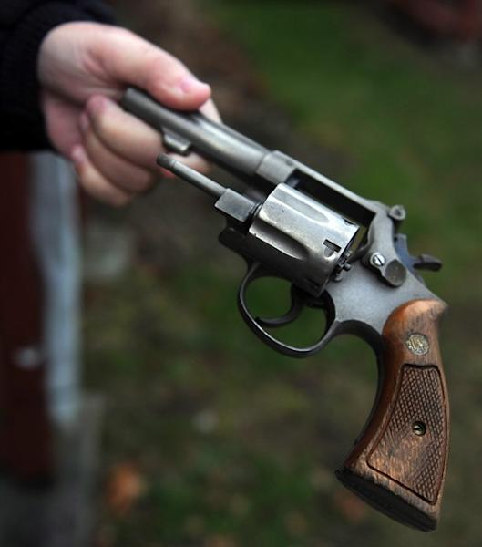 A .38 Smith & Wesson revolver is shown during a gun buyback event in Bridgeport, Conn., Saturday, Dec. 22, 2012. The Ontario Court of Appeal has ruled the mandatory minimum three-year sentence for a gun crime is unconstitutional.The sentence for possessing a loaded prohibited gun was enacted in 2008 as part of the federal Conservative government's omnibus crime bill.THE CANADIAN PRESS/AP/The Connecticut Post, Autumn Driscoll MANDATORY CREDIT; MAGS OUT