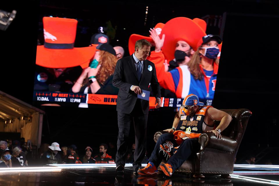 It wasn't normal, but it was close at the NFL draft. (Photo by Gregory Shamus/Getty Images)