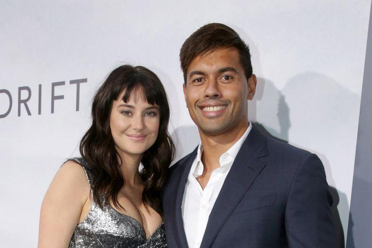 Shailene Woodley and Ben Volavola at the 2018 Adrift Premiere