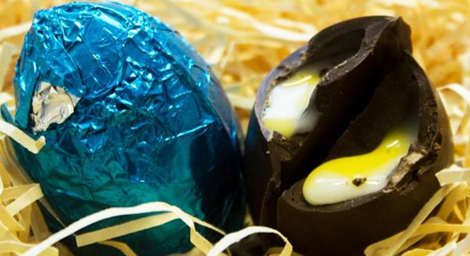 A vegan Creme Egg is now available to buy online. [Photo: Mummy Meagz]