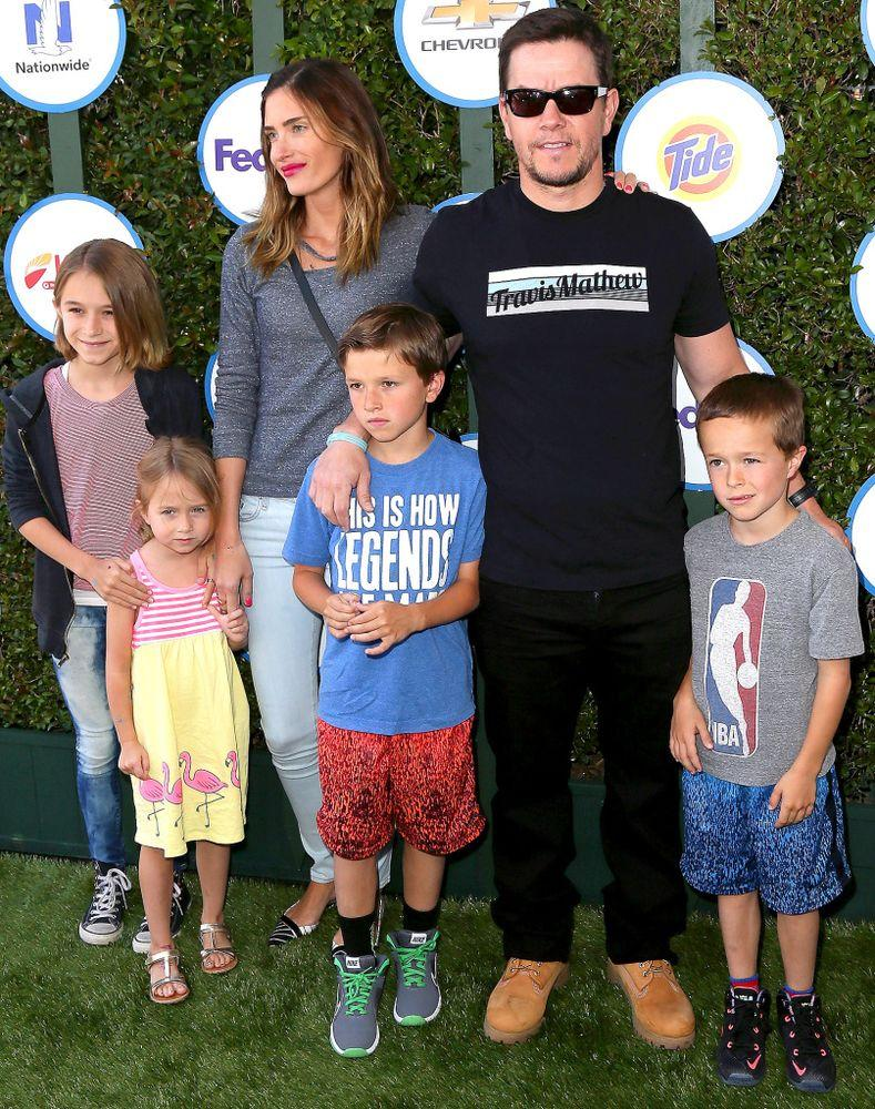 Mark Wahlberg, his wife Rhea Durham and their children in 2015.