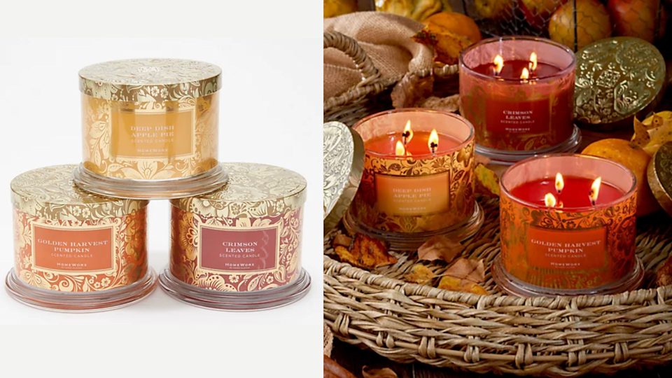 Switch up your smells with this variety pack of candles from QVC.