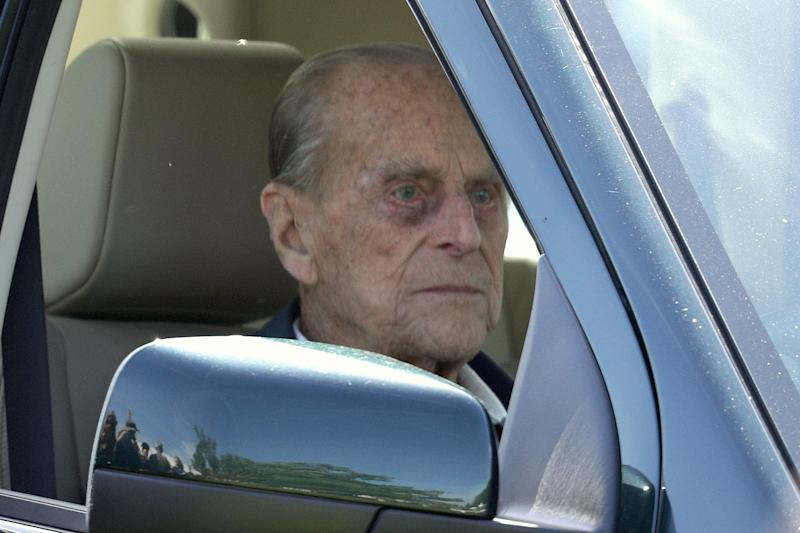 Prince Philip driving on the third day of the Royal Windsor Horse Show on May 11, 2018, in Windsor, England.