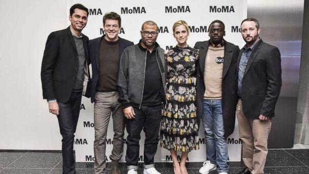 PHOTO: Moderator Rajendra Roy, Producer Jason Blum, director Jordan Peele, actress Allison Williams, actor Daniel Kaluuya, and producer Sean McKittrick attend the MoMA's Contenders Screening of 'Get Out' at MOMA, Nov. 15, 2017, in New York City. (Kris Connor/Getty Images for Museum of Modern Art, Department of Film)