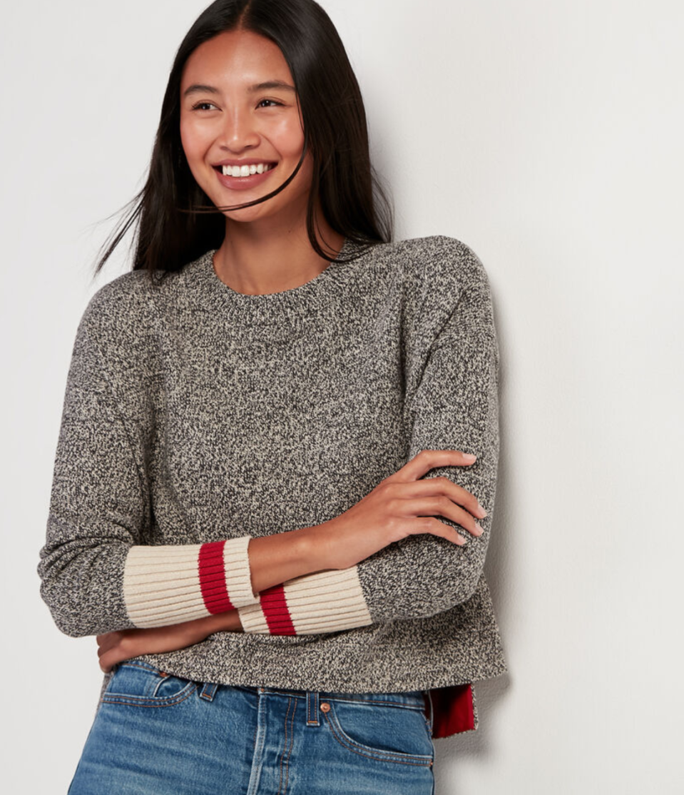 Cabin Boyfriend Sweater. Image via Roots.