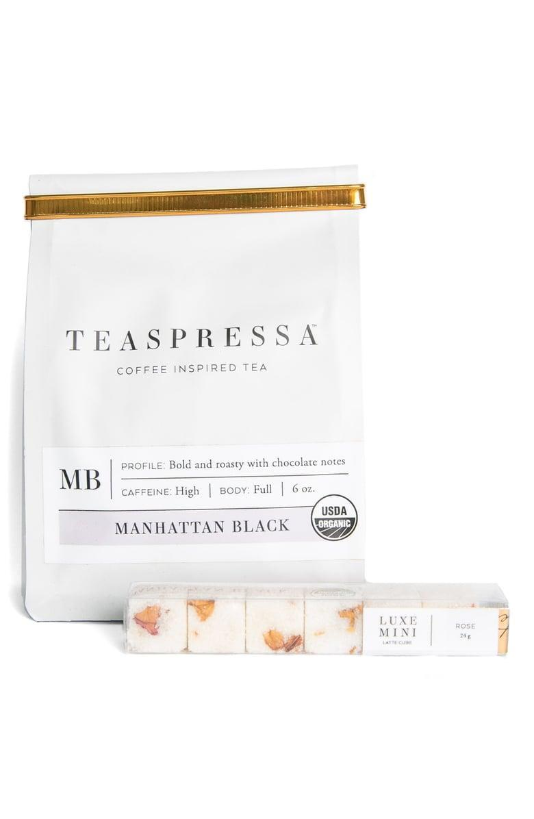 <p>The caffeine lovers in your life will be obsessed with this <span>Teaspressa Manhattan Black Loose Tea & Rose Luxe Sugar Cube Set</span> ($32).</p>