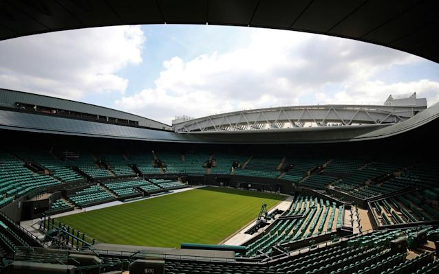Court One's retractable roof is complete and ready to be used during this year's Championships - PA