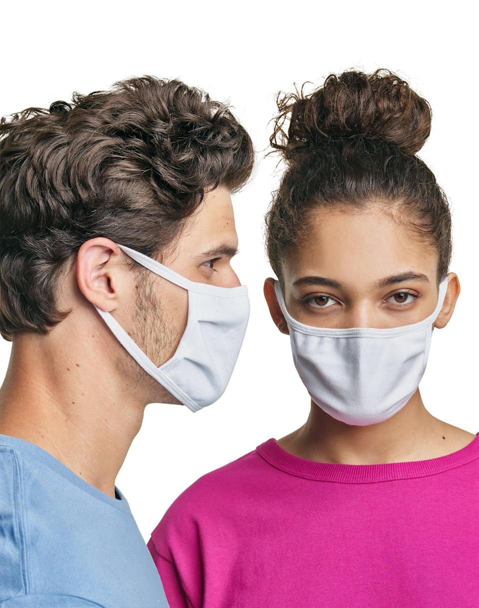 <p>Made with the brand's Cool Comfort™ moisture-wicking fabric, these <span>Hanes Wicking Cotton Masks</span> ($18 for 10, originally $25) are great for a workout or for everyday wear. Not to mention, they're a steal.</p>