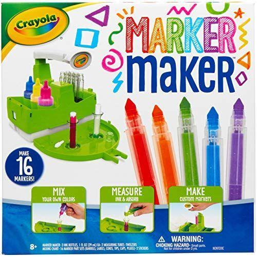 "<strong>Crayola</strong> amazon.com <strong>$19.99</strong> <a href=""https://www.amazon.com/dp/B084ZQYN8H?tag=syn-yahoo-20&ascsubtag=%5Bartid%7C10055.g.29417608%5Bsrc%7Cyahoo-us"" rel=""nofollow noopener"" target=""_blank"" data-ylk=""slk:Shop Now"" class=""link rapid-noclick-resp"">Shop Now</a> If she's into DIY projects, now <strong>she can create her own art materials </strong>to go with it and make her own color blends. This set comes with enough materials to come with 16 markers and even design her own label. <em>Ages 8+</em>"