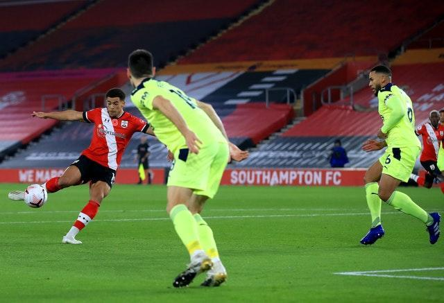 Che Adams fired Southampton ahead in just the seventh minute