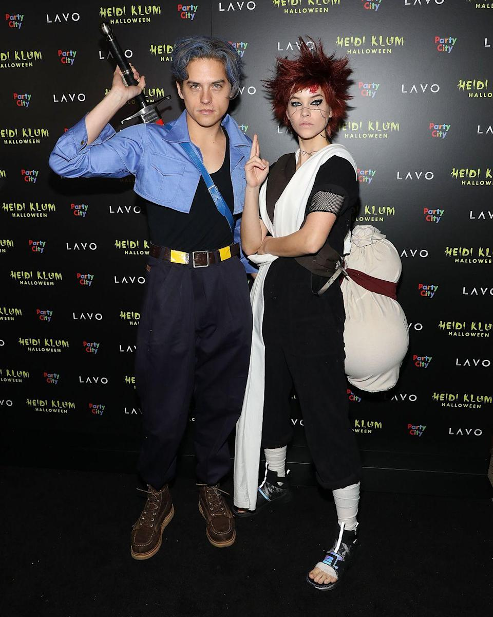 <p>Dylan Sprouse and Barbara Palvin looked ready for a fight when they arrived at a Halloween party in 2018. Sprouse resembled Future Trunks from <em>Dragon Ball Z</em> and Palvin was Gaara from <em>Naruto</em>. </p>