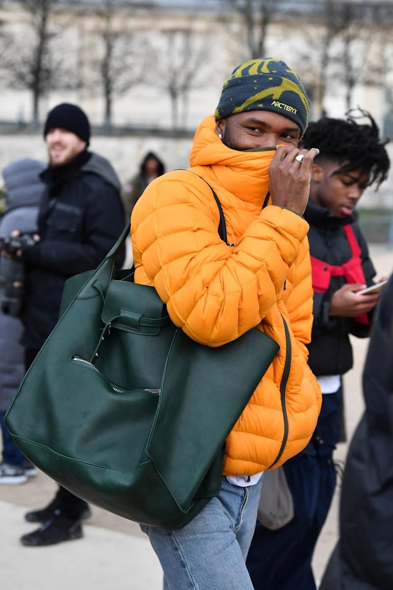 33299f69c Frank Ocean Flaunts an Unlikely Front Row Accessory at the Louis ...
