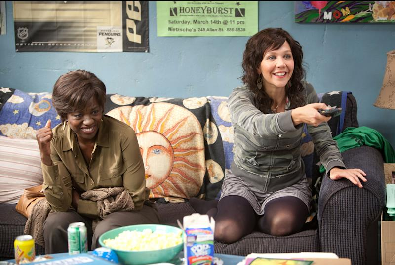 """This film image released by 20th Century Fox shows Maggie Gyllenhaal, right, and Viola Davis in a scene from """"Won't Back Down."""" (AP Photo/20th Century Fox, Kerry Hayes)"""