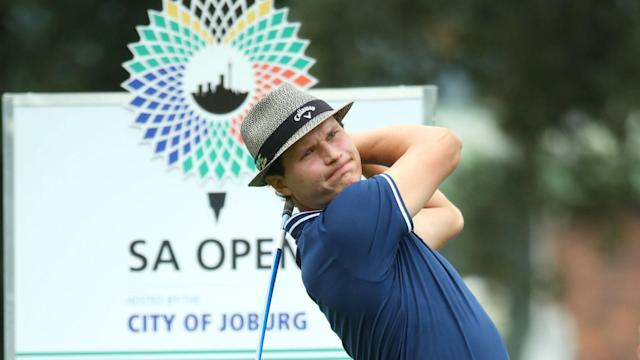 Reigning South African Open champion Louis Oosthuizen is three shots adrift of leader Tapio Pulkkanen.