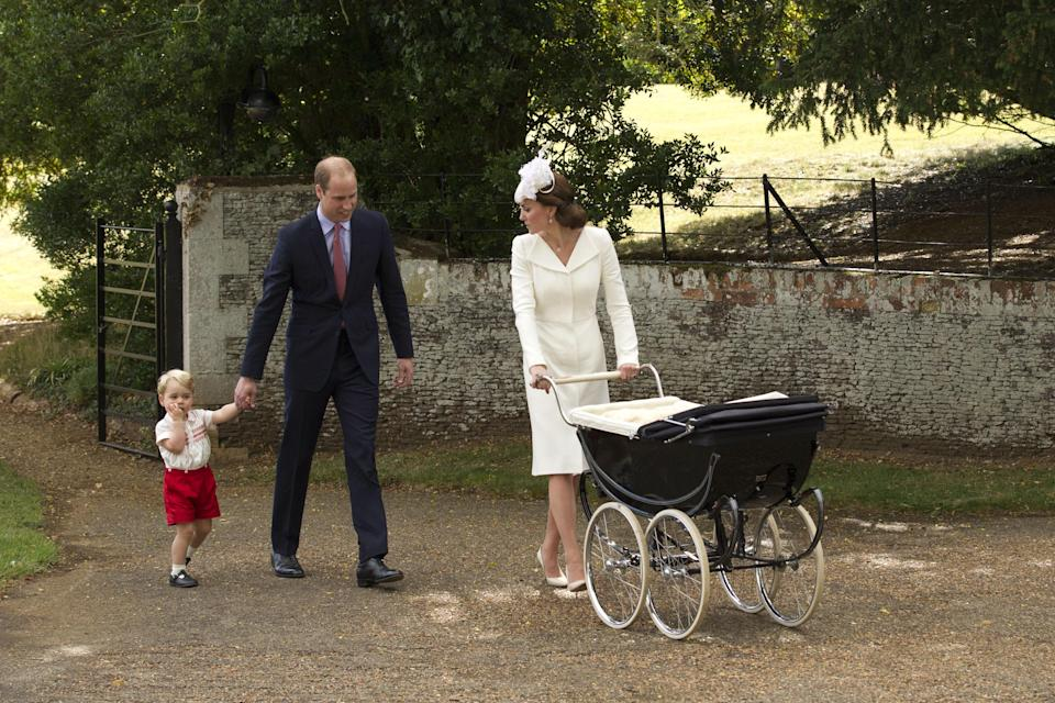 The Duke and Duchess of Cambridge rely on the Silver Cross pram for their royal brood. Image via Getty Images.