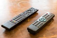<p>Think about how often remote controls are touched by everyone in your house. No one is washing their hands before grabbing them, and they're probably often touching them after or while eating something. Remotes can be full of icky germs and bacteria that you definitely don't want hanging around. </p><p><strong>How to clean</strong>: The easiest and quickest thing to do is to grab an anti-bacterial wipe and wipe down the entire remote, batteries included. For a deeper clean, remove the batteries, dip a cloth into rubbing alcohol, and rub it all over the remote. Use a q-tip to get around every little button. </p>