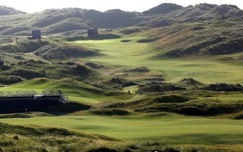 The Dunluce Links course at Royal Portrush Golf Club, Northern Ireland, Saturday, July 6, 2019. The Open Golf Championship will be played at Royal Portrush marking a historic return to Northern Ireland after it was last played there in 1951. - Credit: AP